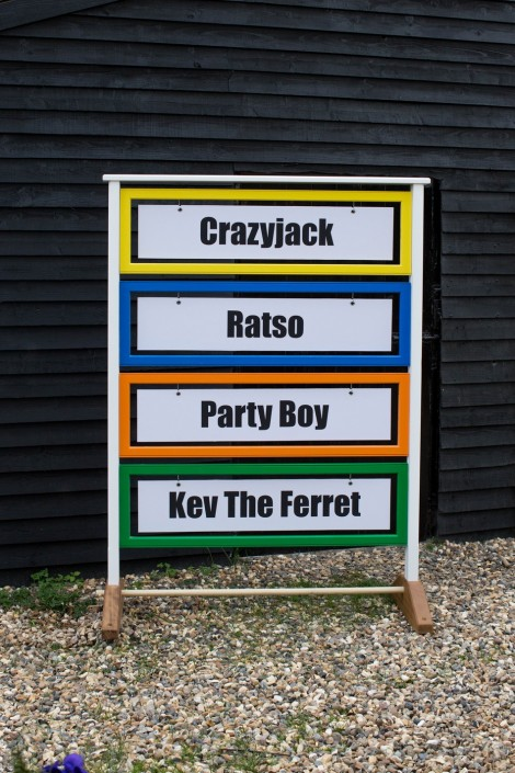 New Ferret Nameboard for Wild In The Country Ltd Ferret Racing