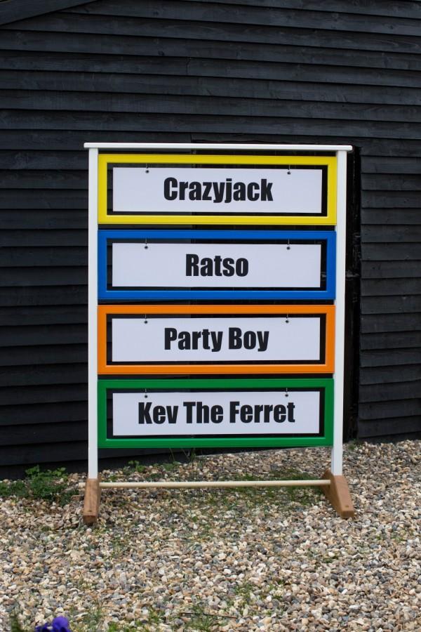 Ferret Racing Name Board